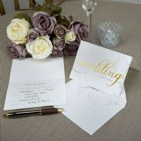 Scripted Marble Wedding Invitations (10)